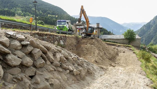 Obres de les noves infraestructures.