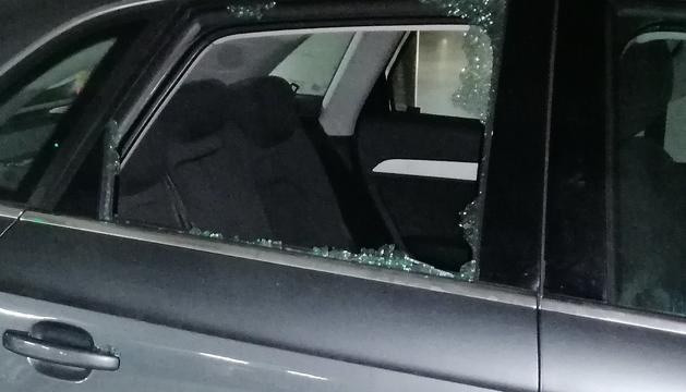 Un cotxe afectat