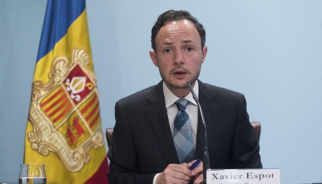 Xavier Espot en una roda de premsa