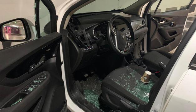 Un cotxe afectat.