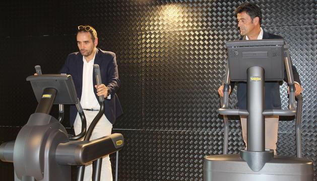 Jordi Serracanta i Josep Àngel Mortés al gimnàs del CEO
