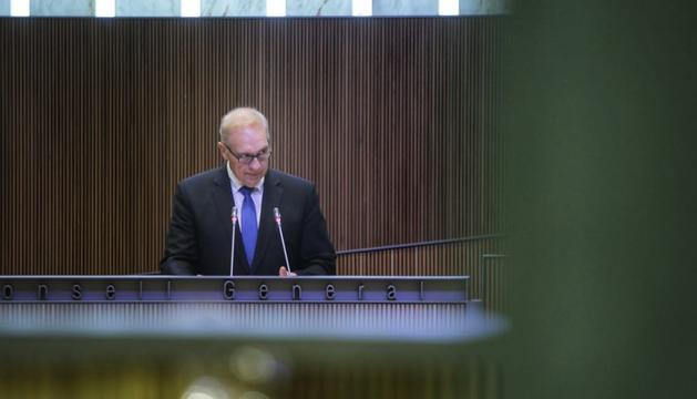 Josep Pintat en la intervenció avui al Consell General