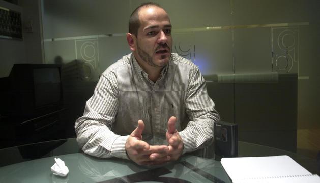 Joaquim Sobré, durant una entrevista.