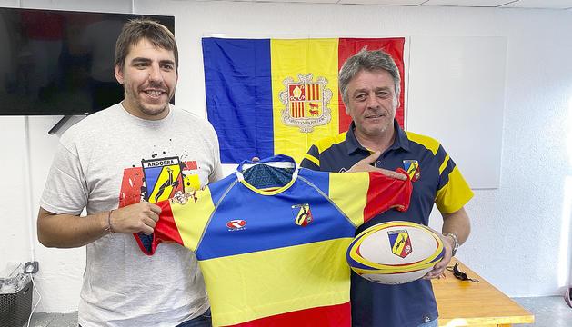 El seleccionador, Dani Raya, i el president de la FAR, Jean-Marc Flaux.