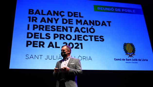 Majoral en un acte públic a Sant Julià de Lòria.