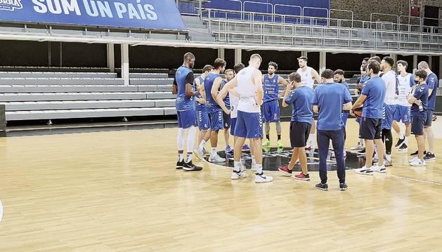 L'equip va fer ahir el darrer entrenament a Andorra.