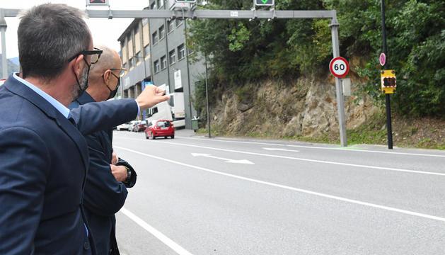 Víctor Filloy I Jaume Bonell han presentat dos nous radars ubicats a Andorra la vella i a Encamp.