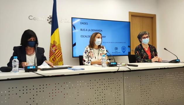 Montserrat Martell, Rosa Gili i Cèlia Vendrell.