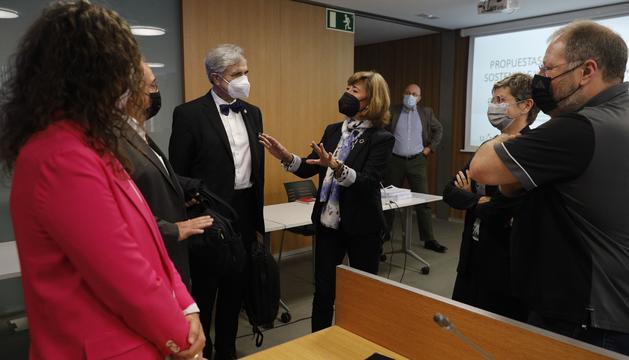 Herce i Valdeolivas abans de l'inici de la comissió d'estudi de les pensions