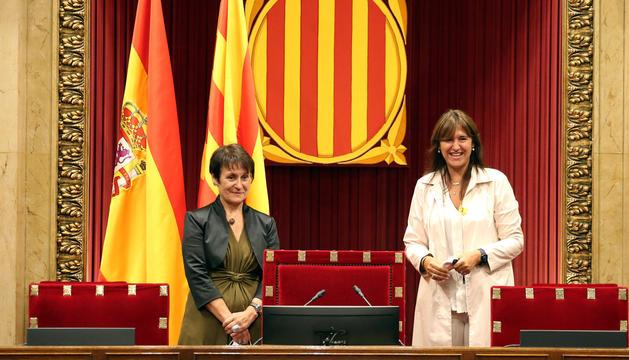 Suñé visita el parlament de Catalunya