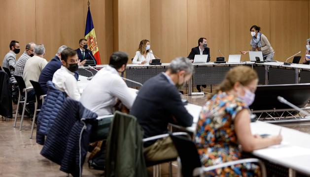 Reunió Comissió Nacional Energia i Canvi Climàtic.