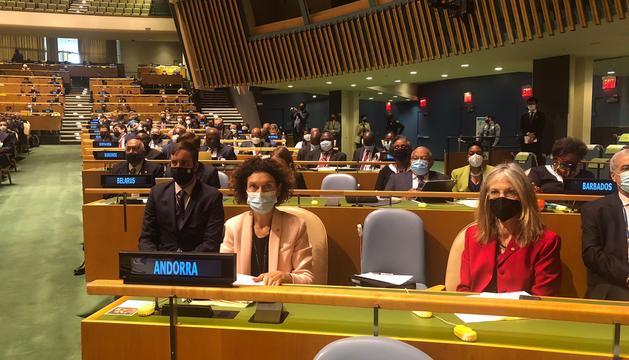 Maria Ubach a l'obertura del Debat General de l'Assemblea de les Nacions Unides