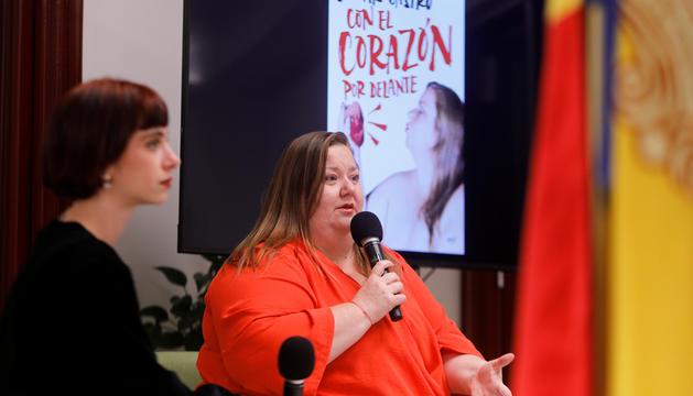 Itziar Castro i Clàudia Riera a la presentació.