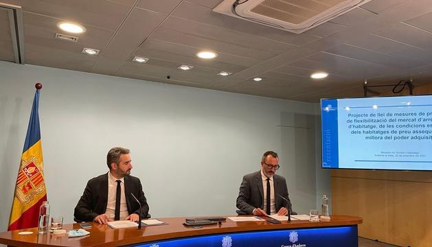 El ministre Jover i Filloy durant la roda de premsa