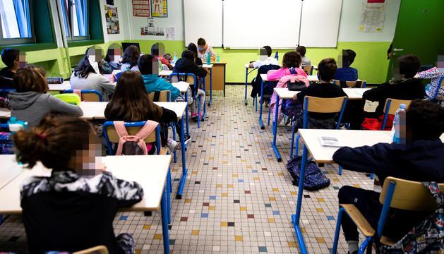 Imatge d'arxiu d'una aula del Lycée.