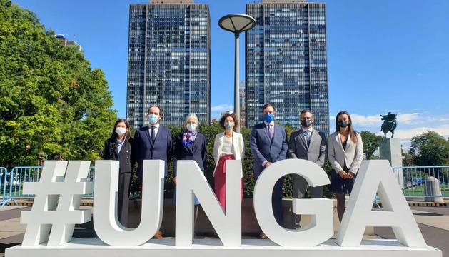 La delegació andorrana a l'ONU.