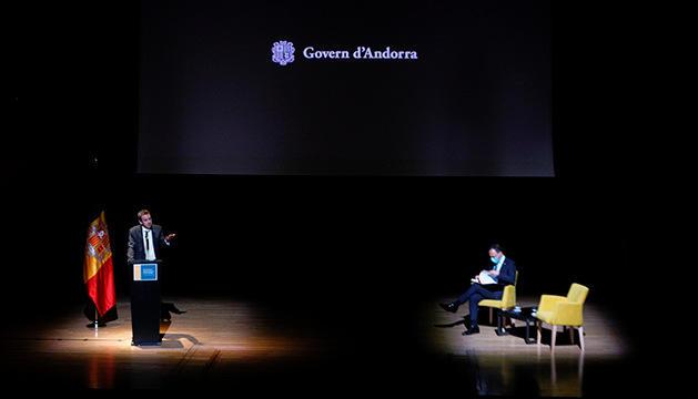 Víctor Grifols presenta el projecte amb Xavier Espot