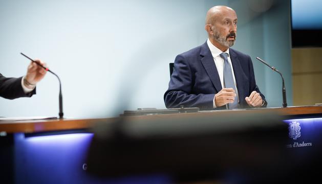 Joan Martínez Benazet en la compareixença d'aquesta tarda