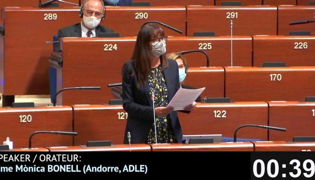 Mònica Bonell al Consell d'Europa.