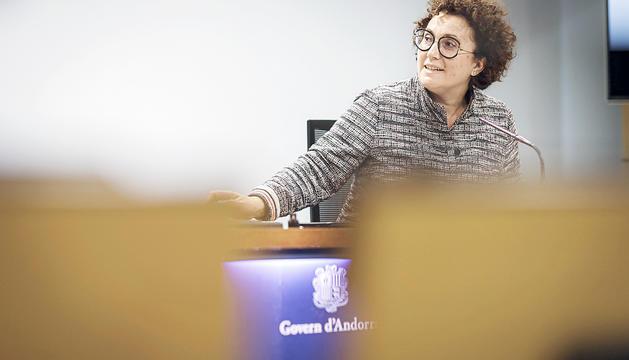 La ministra d'Afers Socials i Joventut, Judith Pallarés.