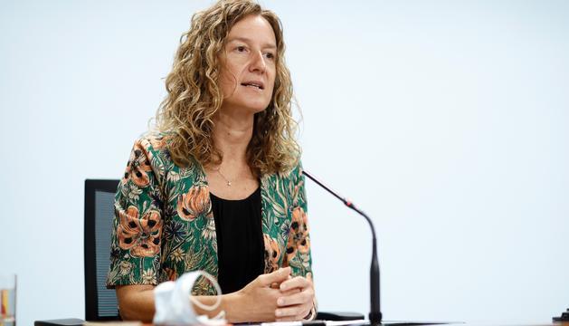 Sílvia Calvó en la presentació de l'Estratègia Nacional de Mobilitat