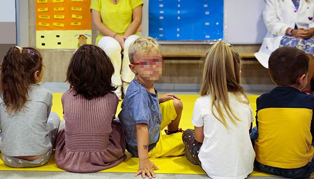 Nens a l'escola Andorrana de Santa Coloma