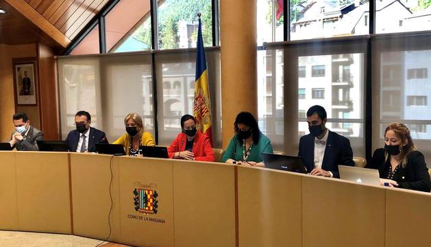 Sessió de consell de comú.