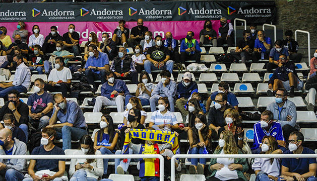 L'aforament del Poliesportiu en el partit contra el Madrid va ser del 40%.
