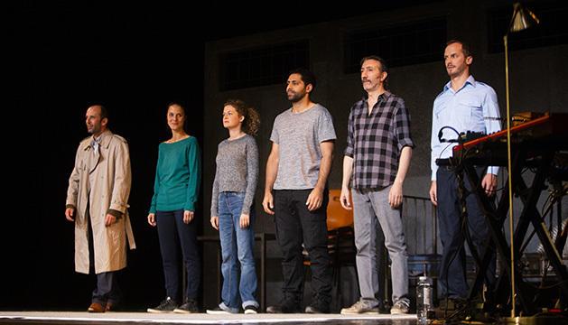 Actors de l'obra de Teatre 'Intramuros'