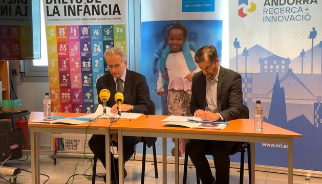 Albert Mora i Joan Micó durant la presentació de l'informe anual.