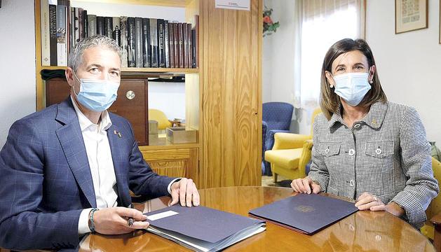 González-Cambray i Vilarrubla, durant la reunió.