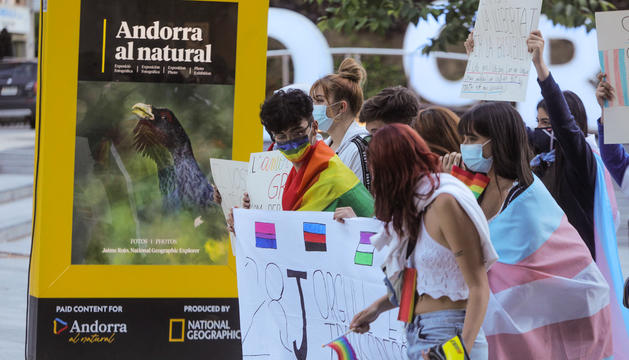 Manifestació a favor dels drets LGTBIQ+.