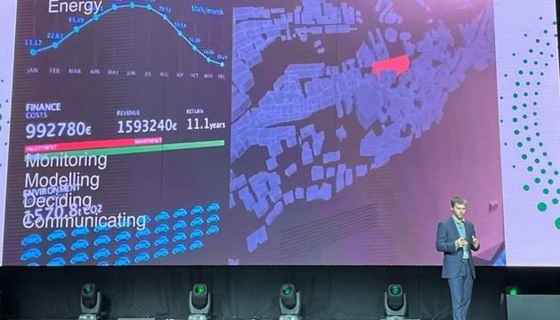 Marc Pons, en la conferència sobre el canvi climàtic a l'Expo2020
