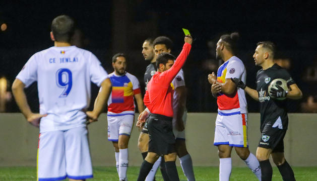 El Jenlai, durant un partit de la passada temporada contra el CEOrdino.