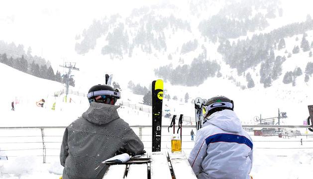 Dos esquiadors a Grandvalira la campanya passada.