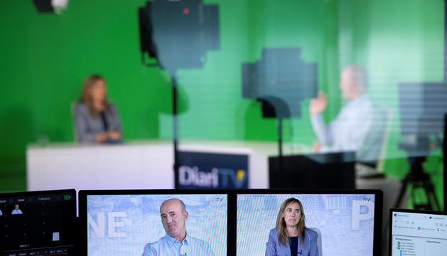 Alfons Godall durant l'entrevista al programa 'Parlem-ne', de Diari TV.