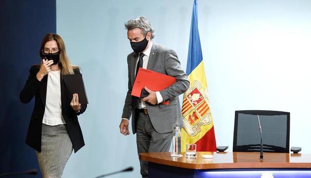Sílvia Riva i Justo Ruiz durant la roda de premsa.