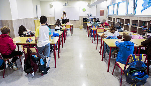 Una aula del sistema educatiu andorrà.