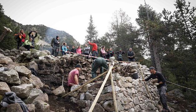 Visita de la intervenció de la primera fase del programa de conservació,estudi i revalorització de la Farga del Madriu