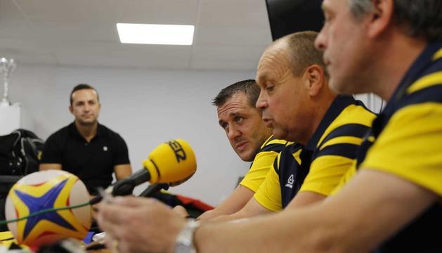 Els dos entrenadors, en la seva presentació oficial