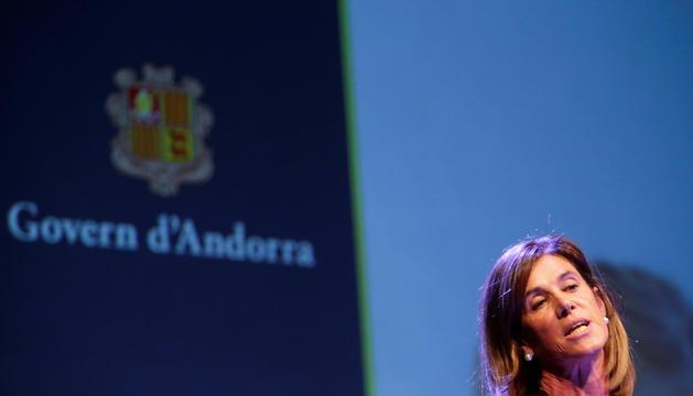 La ministra Vilarrubla a l'obertura del curs.
