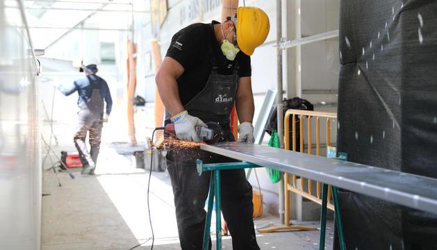 La construcció es reprenia el maig del 2020 i no va necessitar els ERTO.
