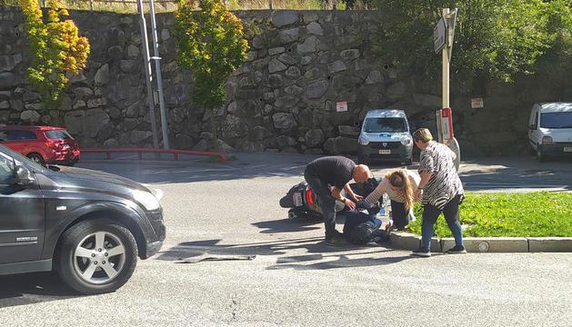 L'accident a la rotonda del Km 0.
