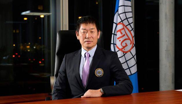 El president de la FIG, Morinari Watanabe.