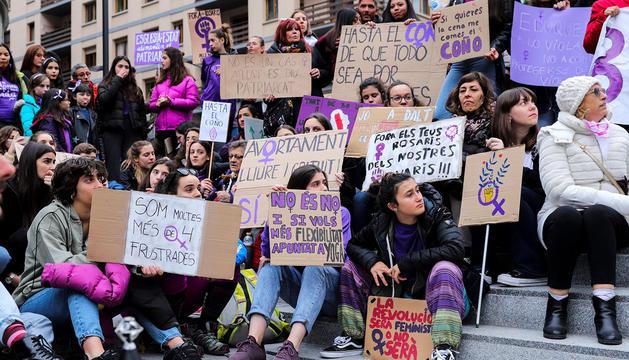 Manifestació a Andorra del Dia de la dona.
