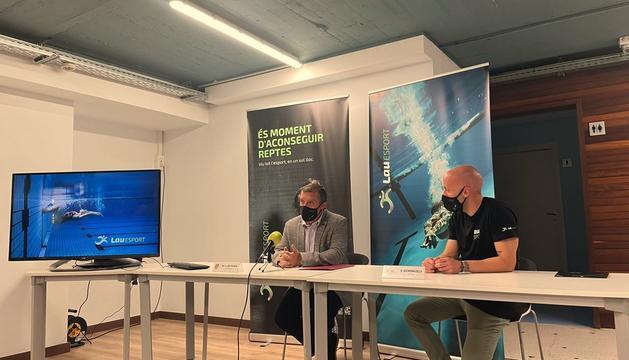 El cònsol major, Josep Majoral, i el director de les instal·lacions, Òscar Balcells