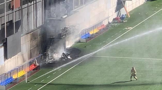 Incendi a l'Estadi Nacional