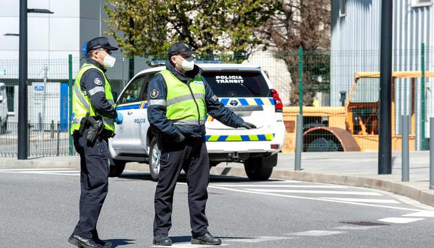 Un control policial de velocitat.