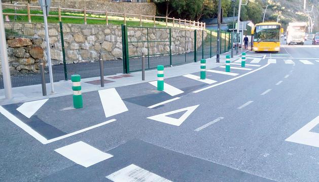 La nova parada de bus de Sant Julià de Lòria.