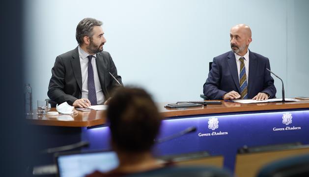 Els ministres Eric Jover i Joan Martínez Benazet